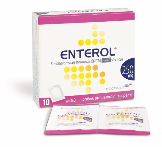 ENTEROL 250MG POR PLV SUS 10